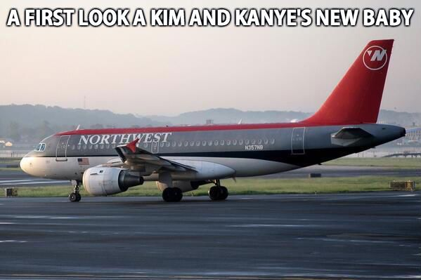north west meme | North West Meme – A first look at Kim and Kanye's new baby