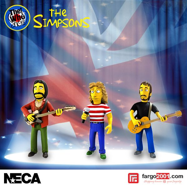 "Neca ""The Who"" Simpson Series ! Get the Figures Now at http://fargo2001.com/index.php?route=product%2Fsearch&search=simpson"