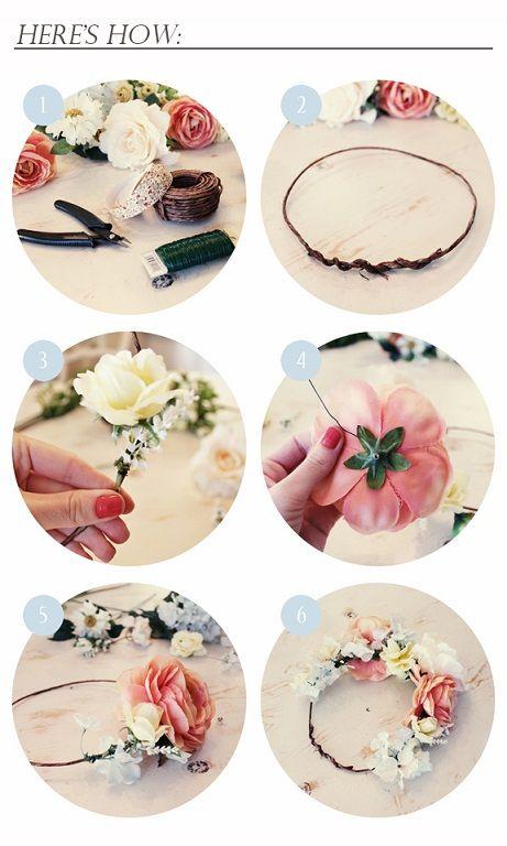 çiçekli taç yapımı