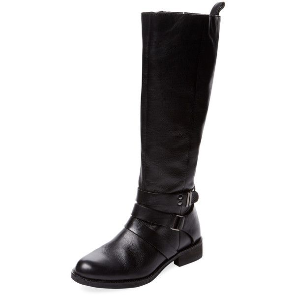 Seychelles Women's Detect Tall Boot - Black, Size 6 ($165) ❤ liked on Polyvore featuring shoes, boots, black, black knee high boots, tall boots, black high boots, knee high leather boots and low heel knee high boots