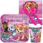 """Free Shipping on orders over $35. Buy PAW Patrol Pink 9"""" Square Plate, 8 Count, Party Supplies at Walmart.com"""
