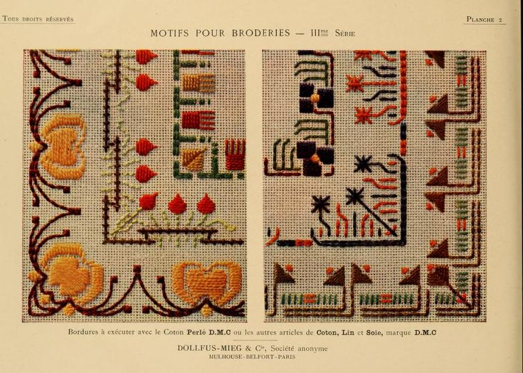 Motifs pour broderies. (IIIme série) No. 2