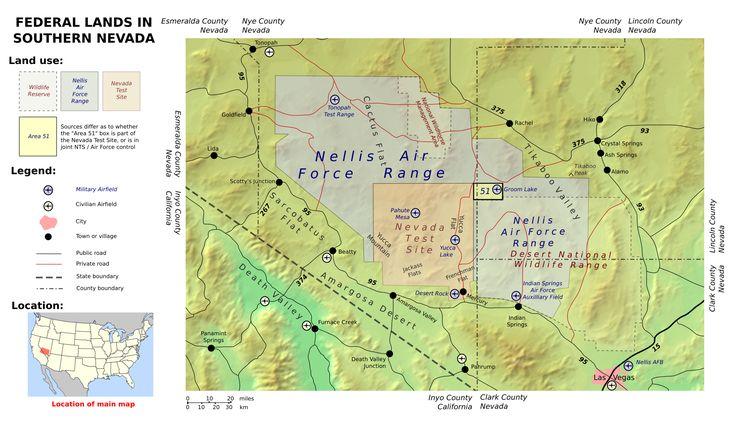 Area 51 Groom Lake Facility Nevada USA