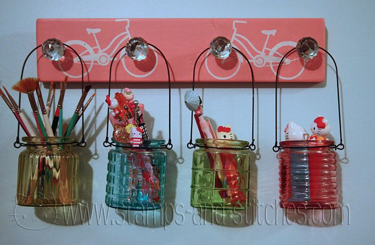 Stamps And Stitches Stenciled Wall Rack Crafty Arts