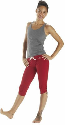 Cropped divine drawstring yoga pant - Smoke Heather - $84.95 - For a seamless transition from comfort to yoga practice (or anything active really) choose this purpose designed cropped yoga pant. Designed with no seams on the side, Fire and Shine love how smooth they are to wear and how easily they move from posture to posture.  #fireandshine #yoga #organic #fashion #ethical #hyde
