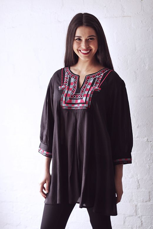Harlequin Embroidered Top http://cakeclothing.net/collections/winter-15/products/harlequin-embroidered-top