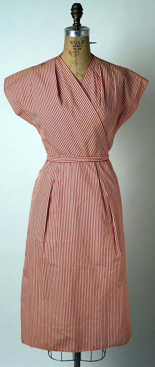 Ensemble  Claire McCardell  (American, 1905–1958)  Manufacturer: Townley Frocks (American) Date: 1943–44
