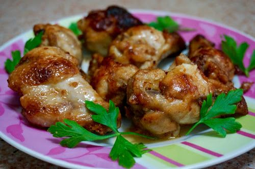 Home food: Куриные крылышки в соусе барбекю / Chicken wings in barbecue sauce