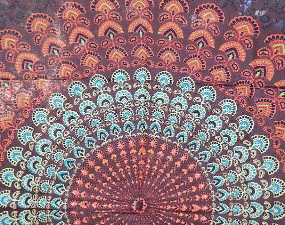 Boho Hippie Tapestry Fabric Colorful by SticksandStonesHemp1, $18.00