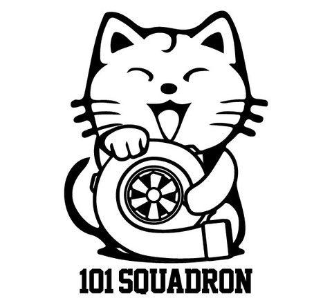 Maneki-neko Turbo Sticker | 101-squadron