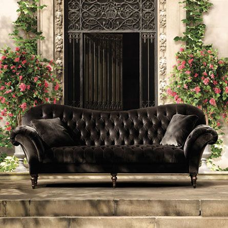 tufted velvet sofa gray chesterfield chloe living room furniture collection dark