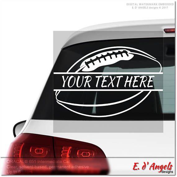 Football decal monogram car decal vinyl monogram vinyl car