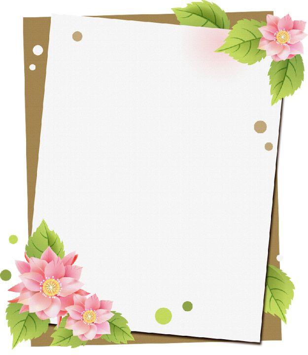 Lleg la primavera marcos ilustraciones primavera for Paginas decoradas