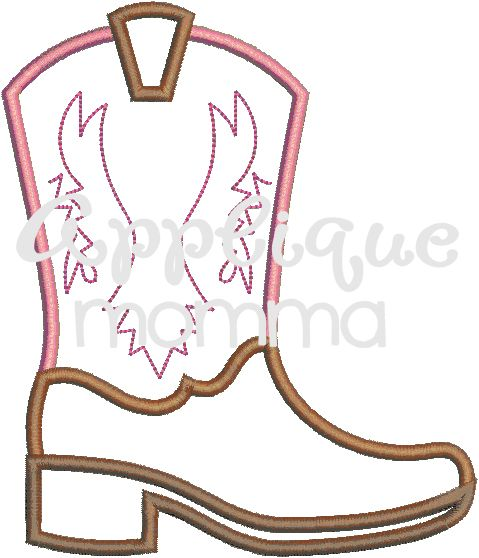 Boot Applique Design- applique nomma