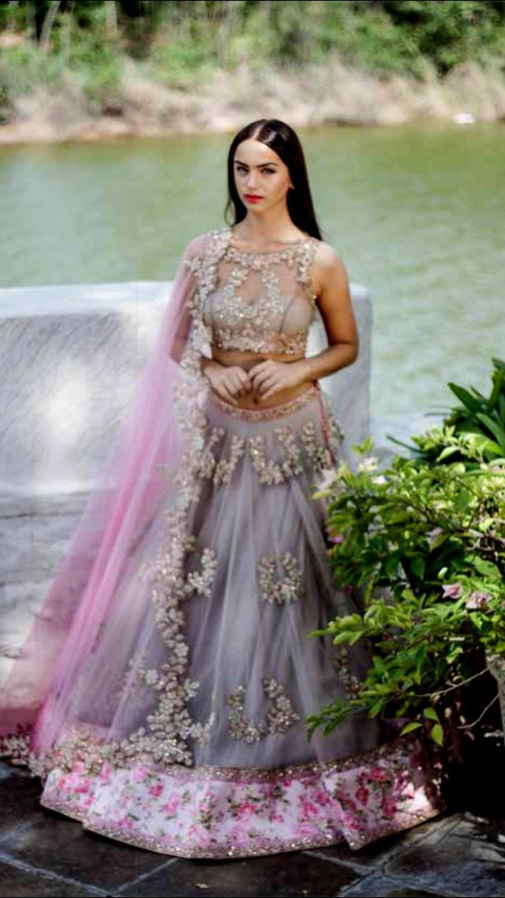 #Romantic #Lehenga by Anushree Reddy https://www.facebook.com/pages/Anushree-Reddy/1419054871703391 ~