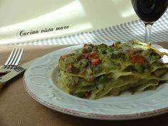 Lasagne di verdure Cucina vista mare