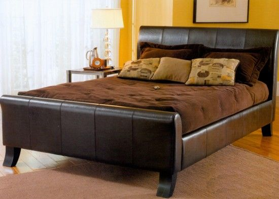 amazing king size bed frame with brown bedding - King Bed Frames Cheap
