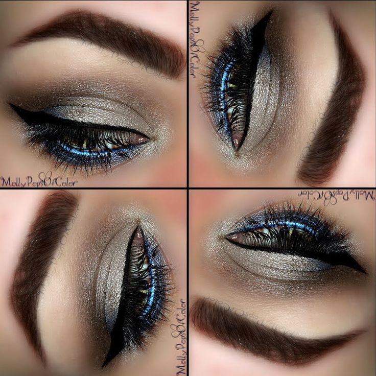 Laura Geller Beauty - Pop of Blue by Molly A. Click the pic to see the products she used. #eyemakeup #YouCanDoThisBeauty @Laura Geller Beauty