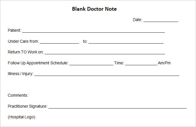 Fake Doctors Note Template Doctors Note Template Doctors Note Notes Template