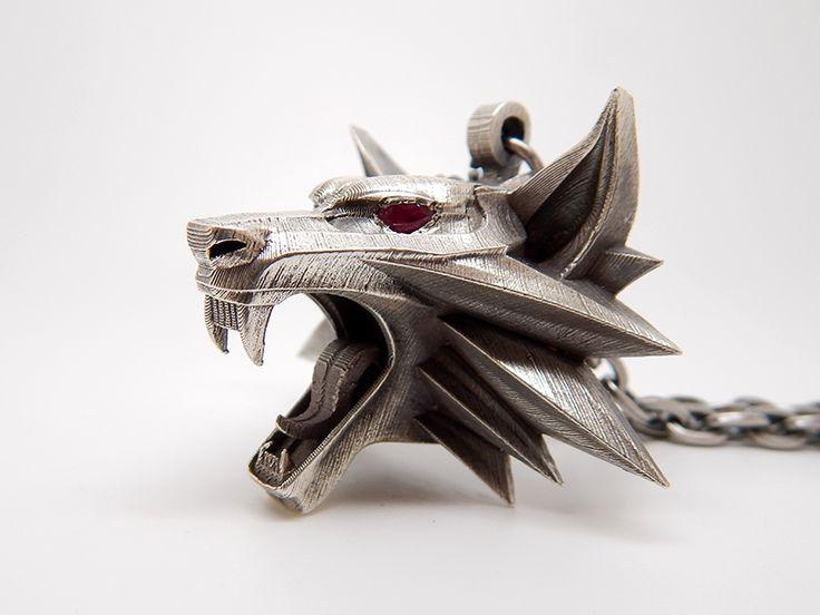 Silver Witcher Medallion 022 by BloodCountessKTD.deviantart.com on @DeviantArt