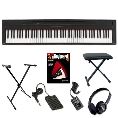 Cheap Best Price Yamaha P-105B Digital Piano Home Fundamentals Bundle Pack for Sale