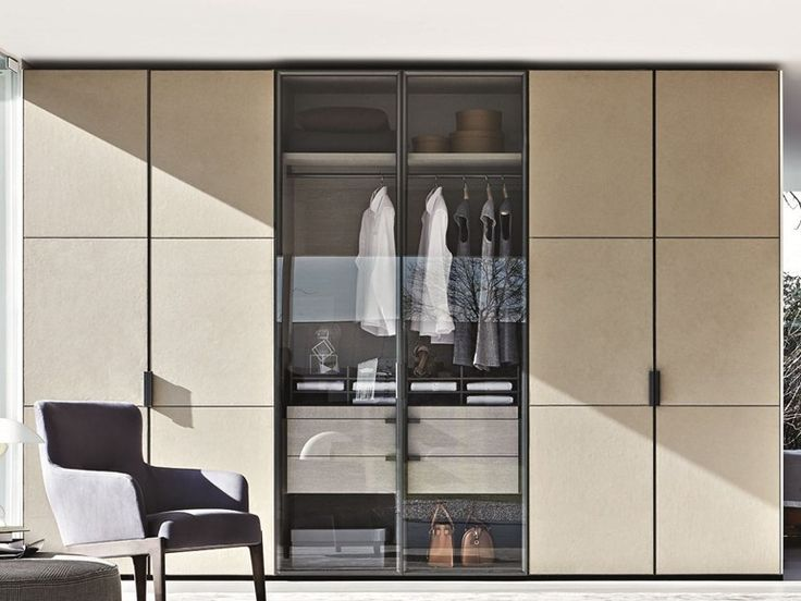 Lacquered wooden wardrobe GLISS MASTER | Wardrobe with drawers - MOLTENI & C.