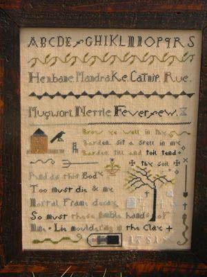 Witches Garden Sampler - Cross Stitch Pattern----LOVE LOVE LOVE---Gotta have!!!