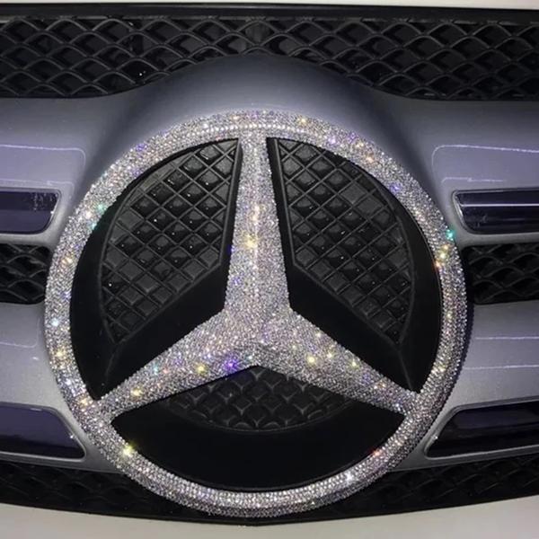Bling Mercedes Benz LOGO Entrance Grille Rear Trunk Emblem Decals #Mercedes