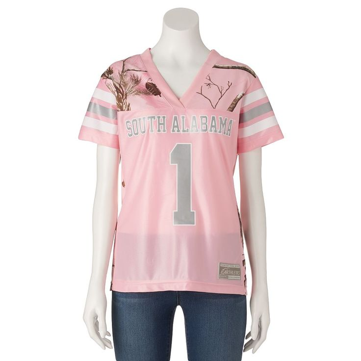 Women's Realtree South Alabama Jaguars Game Day Jersey, Size: Medium, Pink