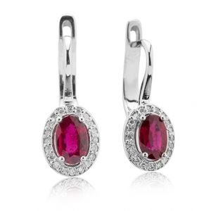 Cercei cu rubine si diamante C512