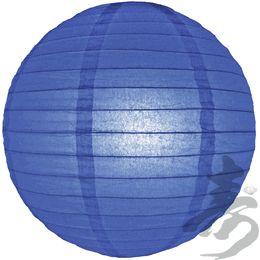 """8"""" Dark Blue Even Ribbing Round Paper Lantern $0.90 each"""