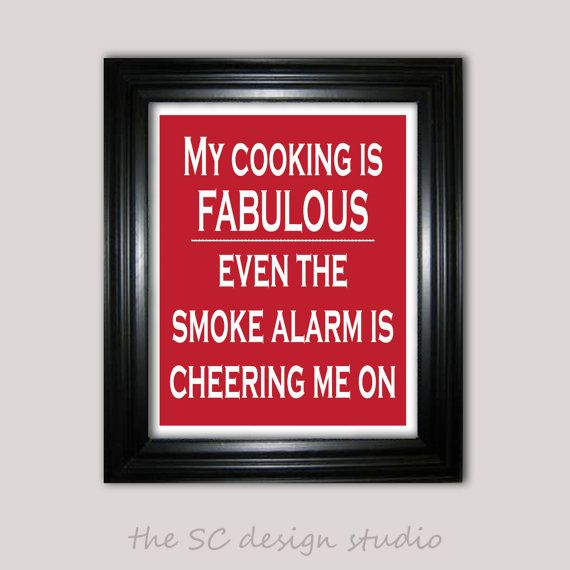 This is me!!! My husband always says when the fire alarm is how I can tell the food is done!!:)