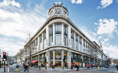 Exterior of Whiteley's shopping centre, Bayswater, London - sized in the golden age of department stores, sigh... :)