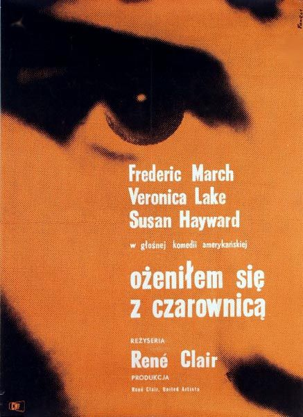 I Married a Witch (René Clair, 1942) Polish design by Wojciech Fangor