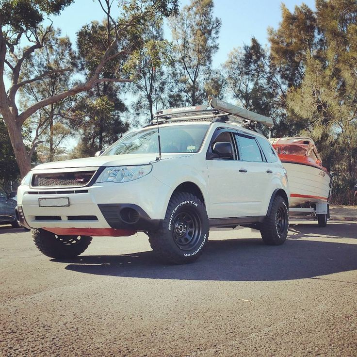 There is seriously nothing this forester cannot do! From everyday driving, weekend offroading to towing boats #beast #beastmode #liftedfoz #theanimal #subarunation #subaruoffroad #offroader #offroad #towing #boat #fishing #subie #subaru #forester #adventure #adventurous #liftedsubie #adf #hella #bfgoodrich #awd #4wd #bae #gme #baja #weekend