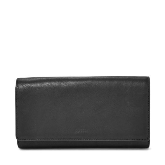 Make a (flap) happy statement with our new Emma clutch. Crafted with smooth glazed leather in seasonal hues, it's a chic way to hold all of your necessities.We've designed this wallet with a special lining to help protect the Radio Frequency Identification (RFID) chips in your credit and debit cards from unwarranted scanning.