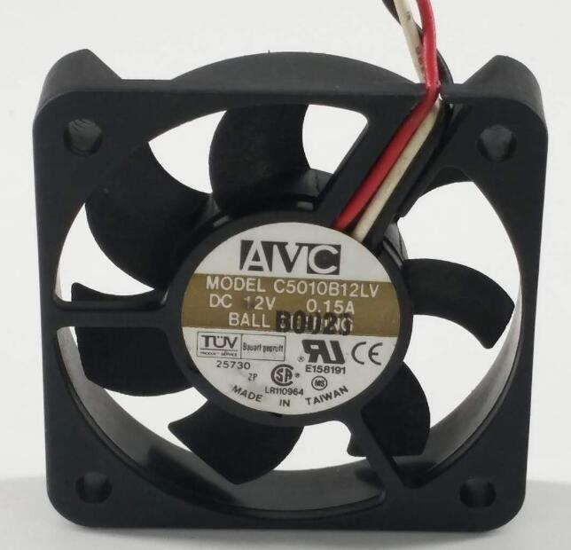 Avc 5010 C5010b12lv 12v 0 15a 3wire Cooling Fan Fan