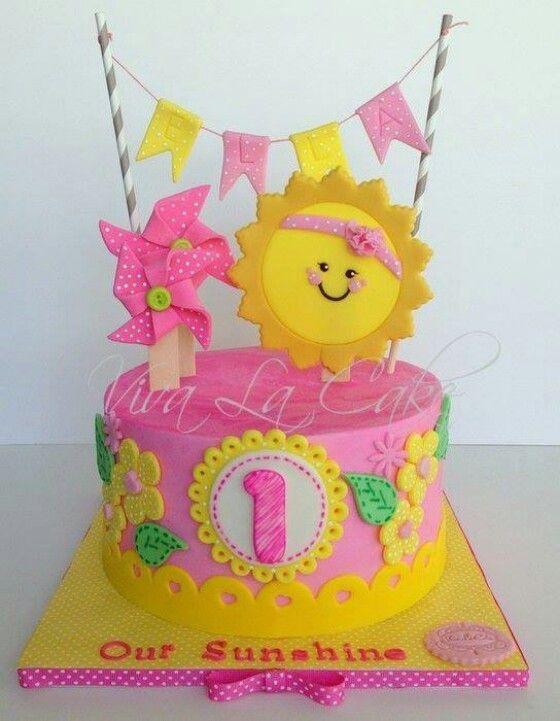 Summery kids cake