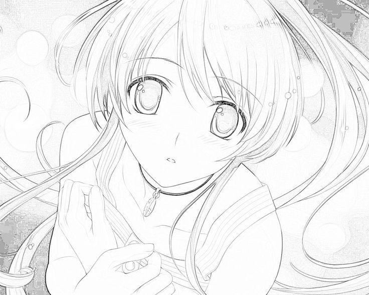 Line Art Anime : Random anime girl line art by haddis viantart on