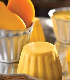 Gelatina de mango 2 mangos Leche ( de coco) Grenetina