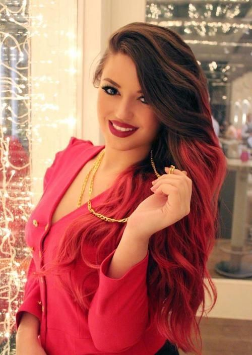 Gorgeous, and the red ombre