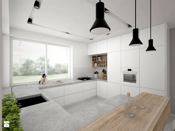 Dom - 65 m2 - Kuchnia, styl skandynawski - zdjęcie od BIG IDEA studio projektowe