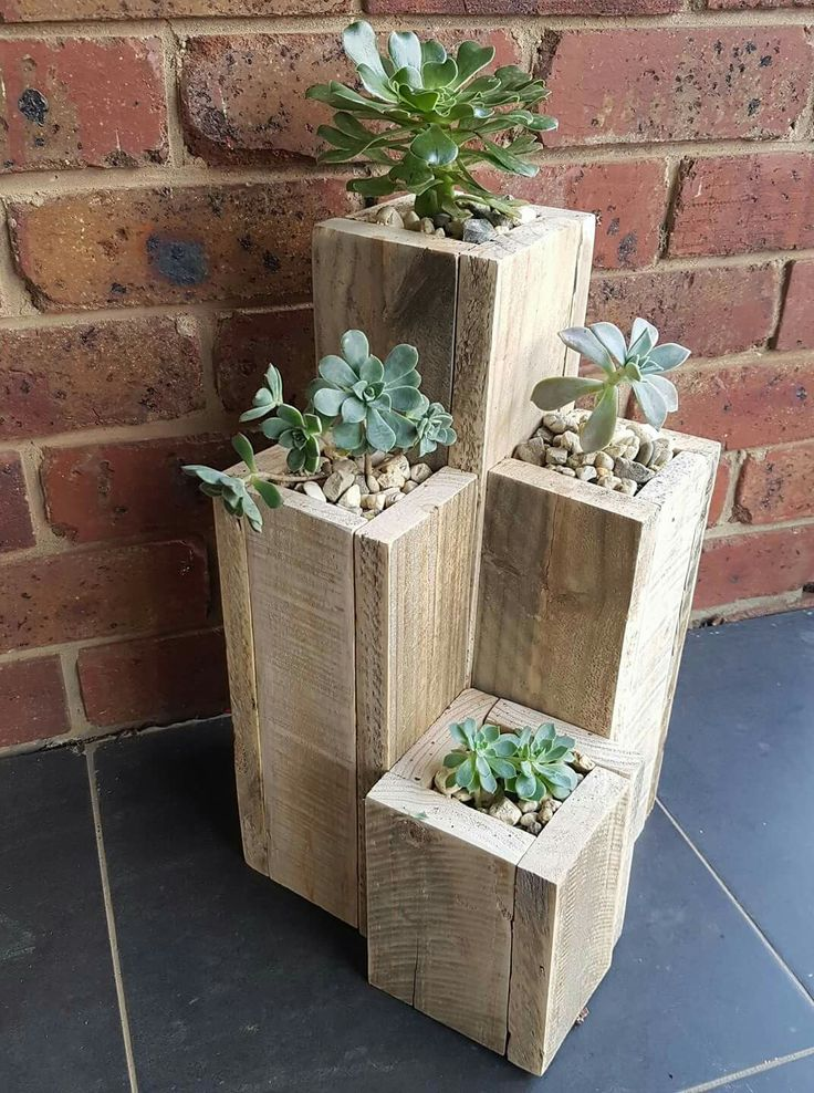 Easy diy planters. These would be great for taking in tender plants in the winter.