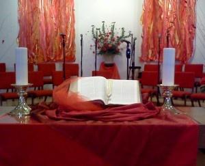 pentecost sanctuary   Ashford United Methodist Church