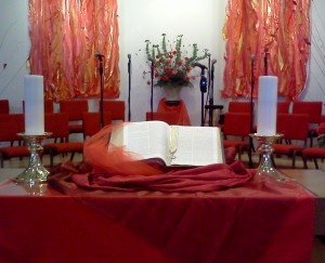 pentecost sanctuary | Ashford United Methodist Church