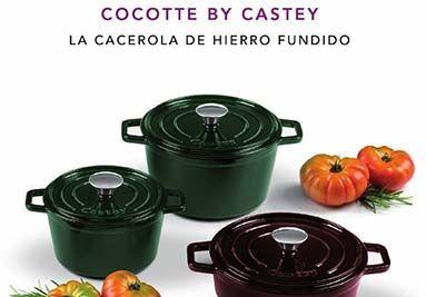 Colección Cocotte by Castey, cacerolas realizadas en hierro fundido esmaltado. Aptas para todo tipo de cocinas y horno. Las pequeñas medidas son ideales para presentaciones de tapas.