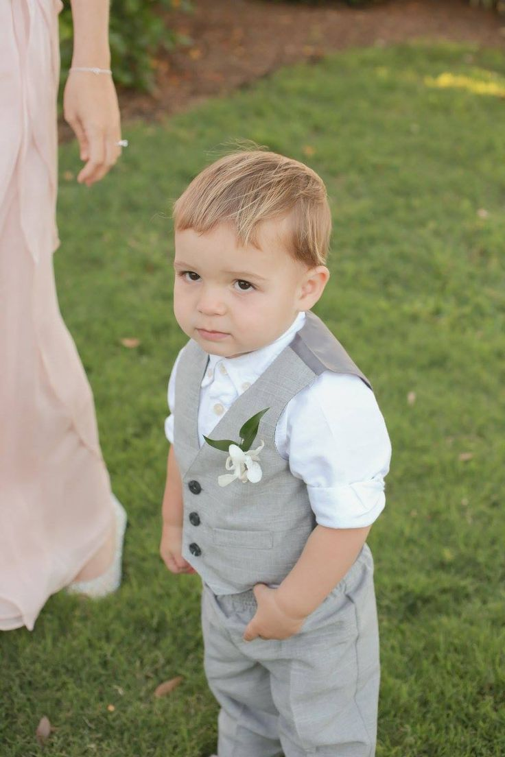 Isla Del Sol Yacht and Country Club, St Petersburg, FL, Ring Bearer, Grey Suit, Iza's Flowers, Inc.