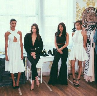 Kendall And Kylie Jenner White Dress - Shop for Kendall And Kylie Jenner White Dress on Wheretoget