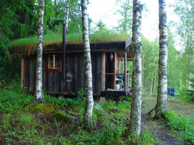 Långserud, Sweden. Submitted byMarcel Huisman.: Wood Cabins, Little Houses, Trees Houses, Greenroof, Tiny Houses, Hobbit Home, Green Roof, Quiet Places, Minis Cabins