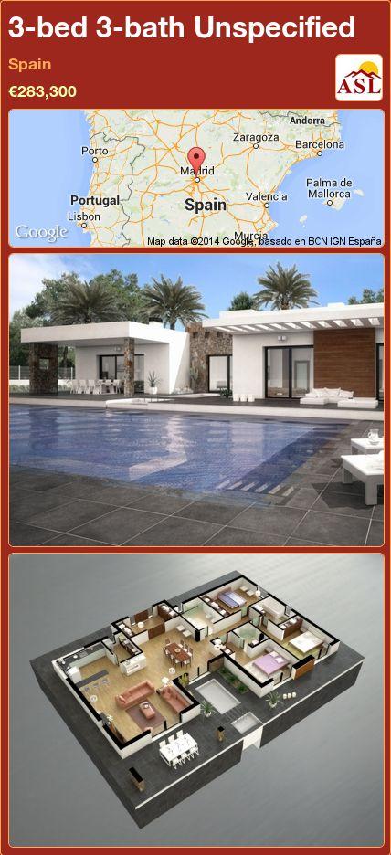 3-bed 3-bath Unspecified in Spain ►€283,300 #PropertyForSaleInSpain